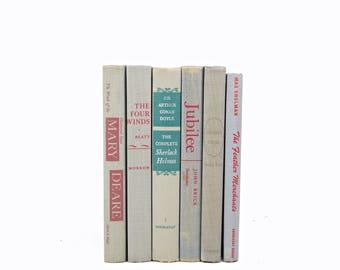 Rustic Gray Book Set, Grey BOok Decor, Decorative Books, COuntry chic Book collection, Old book Farmhouse chic, Fixer upper