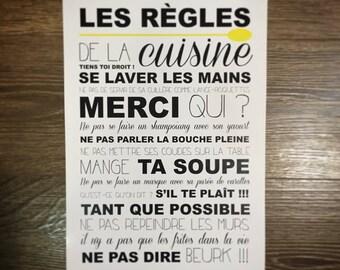 Affiche - Les règles de la Cuisine