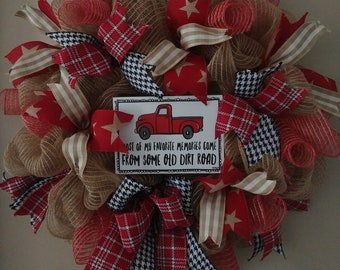 Country road wreath