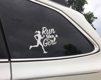 Run like a Girl decal