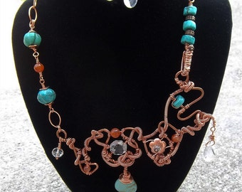 Love is a many splendored thing...but it's complicated ... copper necklace set