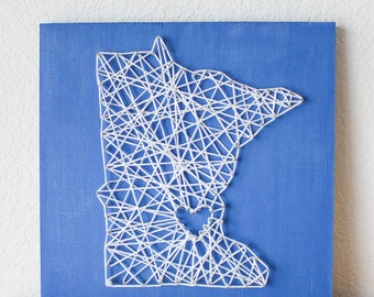 There's no place like home string art, State String Art, String Art, Nail and String Art, Nail String Art, Home Decor, Rustic Home Decor