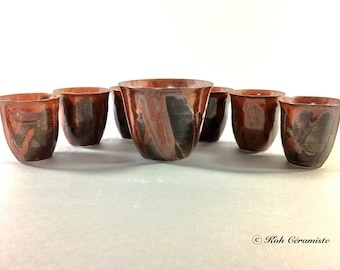 Cup porcelain Brown (small)