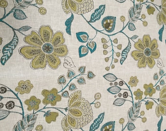 New! Curtains, Floral Pattern, Custom Drapes, Pleated Drapes, Window Treatments, Made to Order, *Firefly*