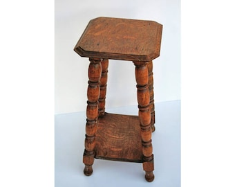 Square European Side Table Vintage Side Table Square Stand Vintage End Table