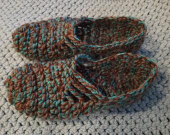 Crochet ballet style slippers