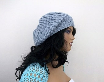 Light Gray slouch hat-berets