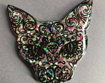 Kitty Brooch/Necklace/Keychain