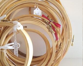 Vintage Embroidery Hoop Set {19}: Vintage Wedding Decorations, Sew Sweet Theme, Supply Lot, Thread Hoops