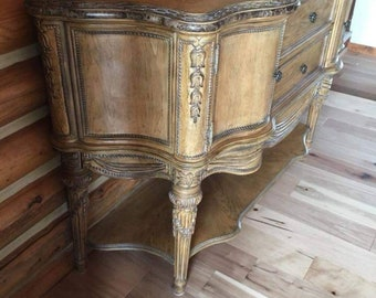Available for custom finish - Schnadig antique vintage buffet sideboard victorian ornate style