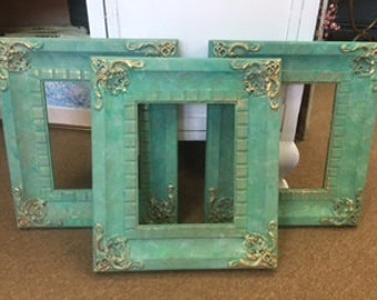 Painted Frames in Shades of Blues and Greens