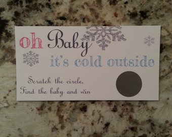 20 Oh baby it's cold outside Scratch Off Tickets