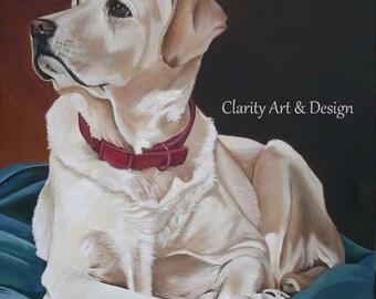 Pet Portrait size 18 x 24, Custom Dog Painting, Pet Keepsake, Painting from Photo, Custom Pet Portrait Painting, Painting of Pet, Dog Art