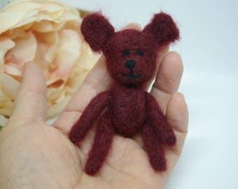 Mother's day gift, Teddy, Needle felted teddy bear, Teddy Bear,