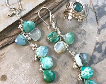Opal Droplets Earrings
