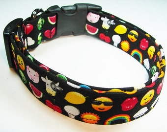 Emojis Emoticons Dog Collar