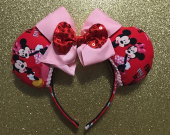 Valentines Day inspired Minnie Ears*Ready to ship*