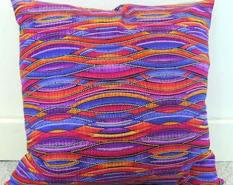 Sale pillow cover, colorful pillow cover, bright pillow cover, wave pillow cover, multicolored pillow cover, geometric pillow cover