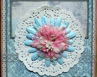 Shabby style, greeting card