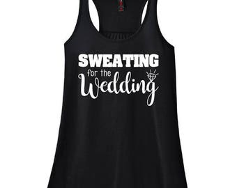 Sweating for the Wedding {Black Racerback Workout Tank Top}