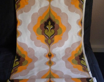DEADSTOCK Fabric Vintage 1960s Abstract Trippy Pattern Slinky Mid Century Modern Eames Unused