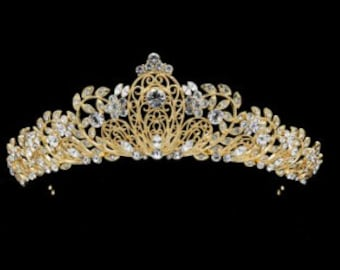 JOCELYN - Gold Wedding Bridal Tiara