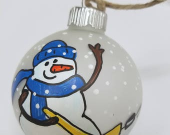 Hockey Ornament -Ice Hockey Player - Christmas Ornament - Personalized Ornament - Hockey Mom - Snowman Ornament - Custom Hockey Ornament