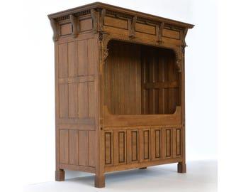 17th Century Bedbox dollhouse miniature kit 1:12