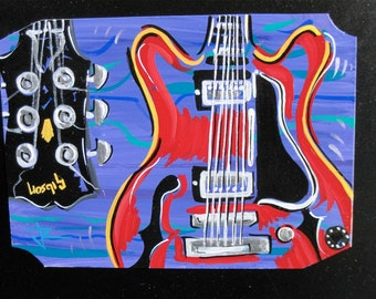 Gibson guitar magnet