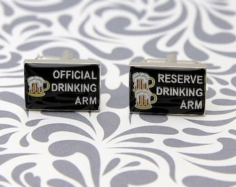 ON SALE Official Drinking Arm Reserve Cufflinks Beer