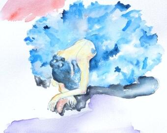 Watercolor Ballet, Ballerina Painting, Swan Lake Painting, Prints, Dancer