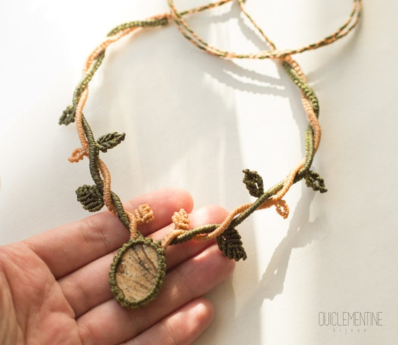 Macrame elven necklace
