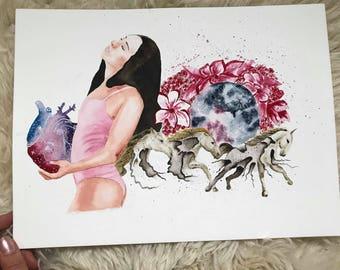 Prints, Full Moon Series, Vulnerability