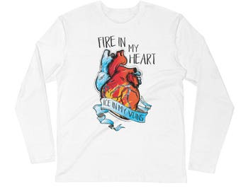 Fire & Ice Hockey Long Sleeve Fitted Crew shirt