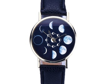 Moon Phase Wrist Watch from StarryNights Store
