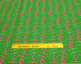 HoHoHo Green Cotton Fabric