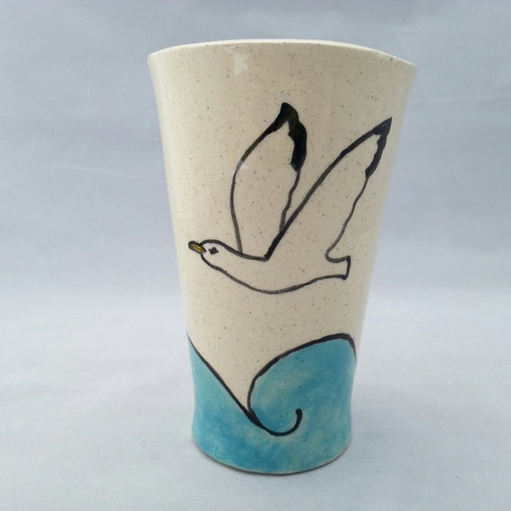 Gull over the Waves Tumbler