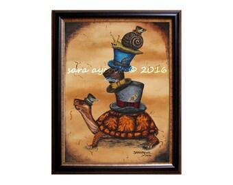 Victorian Gentlemen Turtle and Snail Print