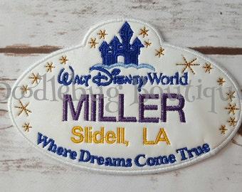 Disney World stroller tag