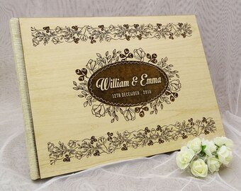 Custom Guestbook, Wedding Guest Book, Personalized Wedding Guest Book, Wood Wedding Guest Book, Guest Book Wedding GB37