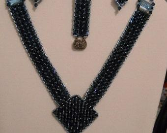 Swarovski Crystal Necklace, Bracelet, Ring and Earrings
