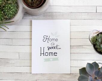 Postcard - Home Sweet Home - Decoration