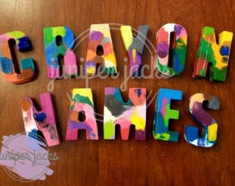 Crayon Names | Custom Crayons | Recycled Crayons | Kids Gifts | Easter Gift | Gifts under 10 | Crayon Letters | Alphabet | Toy Gift for Kids