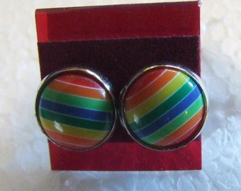 Light  Rainbow  12 mm Post Earrings