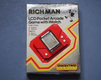 Grandstand Rich Man 1980s LCD Pocket Arcade Game Retro 1982
