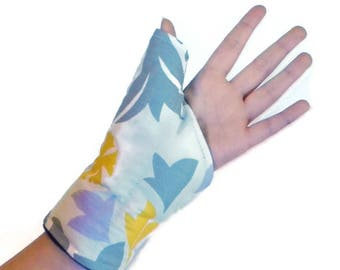 Rice Heating Pad for Thumb, Microwavable Wrist Wrap Texting Gaming Computer Carpal Tunnel Arthritis Thumb Wrap, Hot Cold Therapy Rice Bag