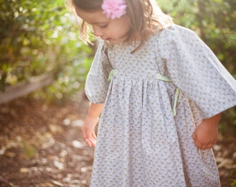 INSTANT DOWNLOAD- Brooklyn Dress (Sizes 12/18 months to 10) PDF Sewing Pattern and Tutorial