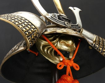 Japanese Samurai Helmet -Middle Size- with a mask