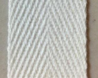 White Cotton Binding Tape Five Yards