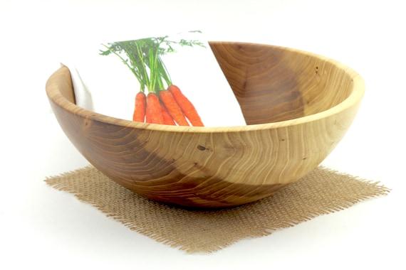 "11"" Elm Salad Bowl,Wooden Elm Bowl,Pasta Bowl, Wedding gift, Serving Dish"